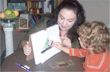 Christy teaching student